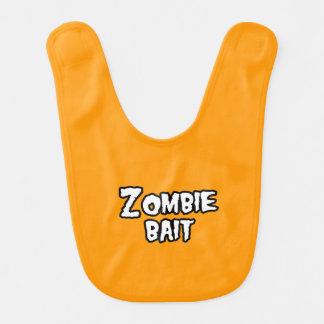 ZOMBIE BAIT - - Halloween Baby Bib