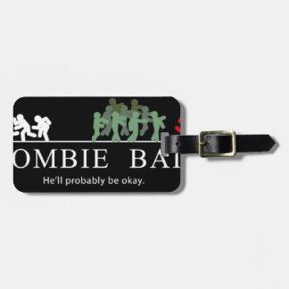 zombie bait luggage tag