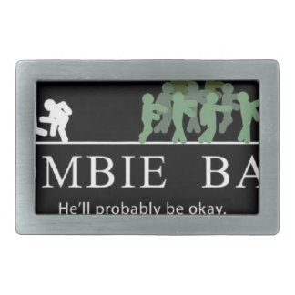 zombie bait rectangular belt buckle