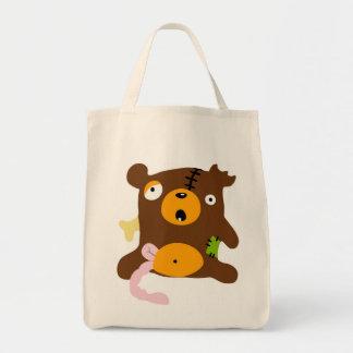 Zombie bear tote bag