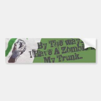 zombie beware bumper sticker