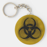 Zombie Biohazard Keychain