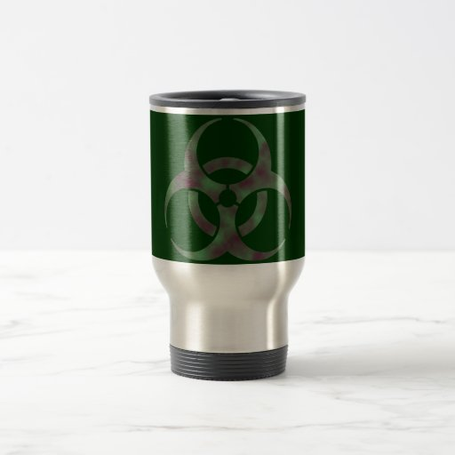 Zombie Biohazard Symbol 15 Oz Stainless Steel Travel Mug