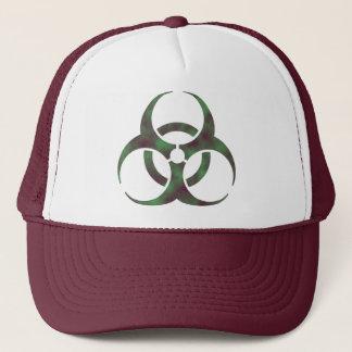Zombie Biohazard Symbol Trucker Hat