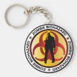 Zombie Biohazard Waste Basic Round Button Key Ring