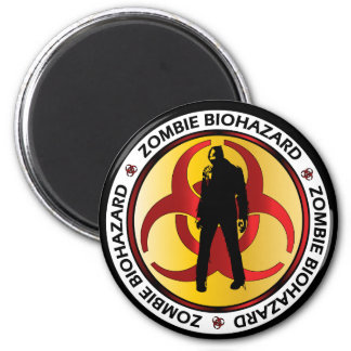 Zombie Biohazard Waste Magnet