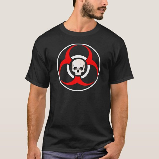 Zombie BioHazard with Skull T-Shirt