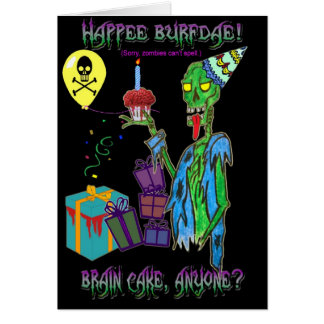 zombie birthday card (blank)