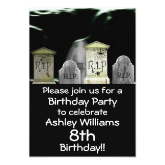 Zombie Birthday Party Invitation