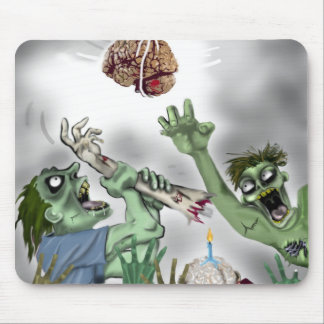 zombie birthday pinata mouse mat