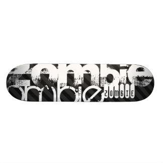 Zombie; Black & Dark Gray Stripes Skate Deck