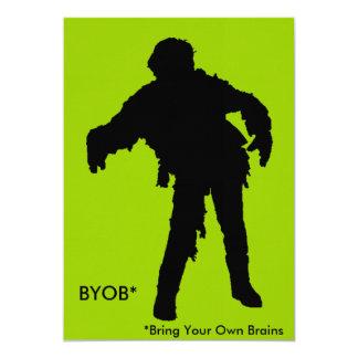 Zombie Black Silhouette 13 Cm X 18 Cm Invitation Card