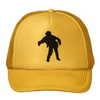 Zombie Black Silhouette Cap