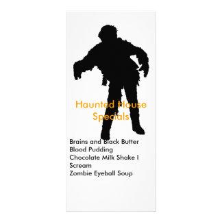 Zombie Black Silhouette Custom Rack Card