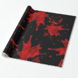 Zombie Blood Splatter Gift Wrap