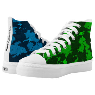 Zombie Blue And Green Camouflage HighTops