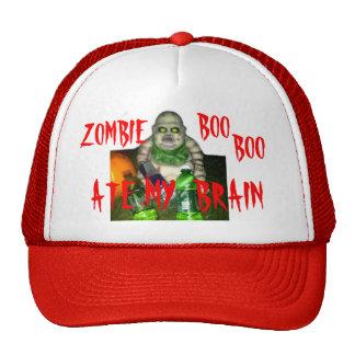 ZOMBIE BOO BOO ATE MY BRAIN HATS