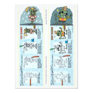 Zombie Bookmarks 17 Cm X 22 Cm Invitation Card