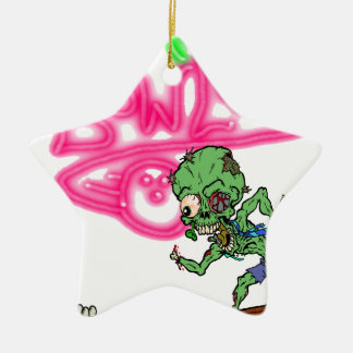 Zombie Bowling Christmas Ornament