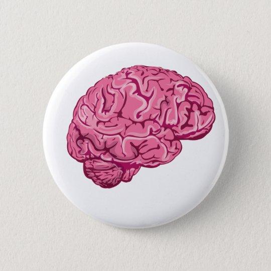Zombie Brain 6 Cm Round Badge