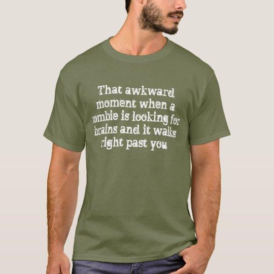 Zombie Brain Humour T-Shirt