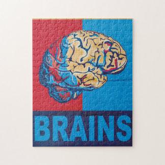 Zombie Brain Jigsaw Puzzle