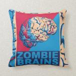 Zombie Brain Throw Pillows