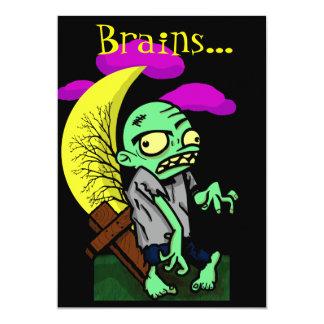 Zombie Brains 13 Cm X 18 Cm Invitation Card