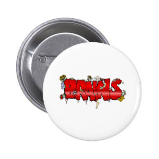 Zombie BRAINS 6 Cm Round Badge