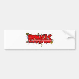 Zombie BRAINS Car Bumper Sticker