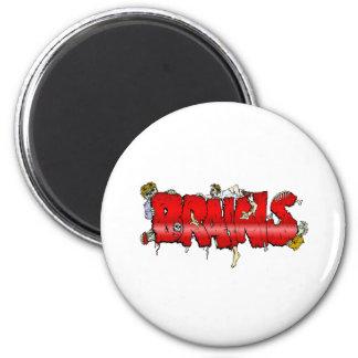 Zombie BRAINS Fridge Magnet