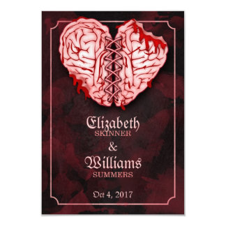 Zombie Brains Wedding RSVP Card 9 Cm X 13 Cm Invitation Card