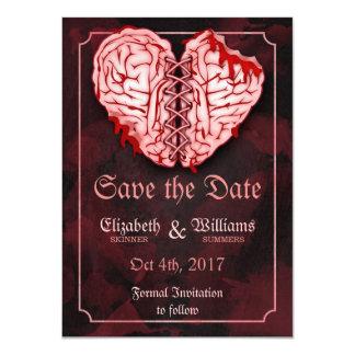 Zombie Brains Wedding Save the Date Card 11 Cm X 16 Cm Invitation Card
