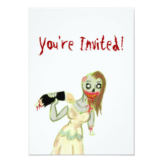 Zombie Bride Invitations