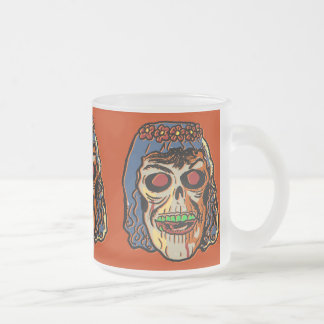 Zombie Bride - Vintage Halloween Mask 10 Oz Frosted Glass Coffee Mug
