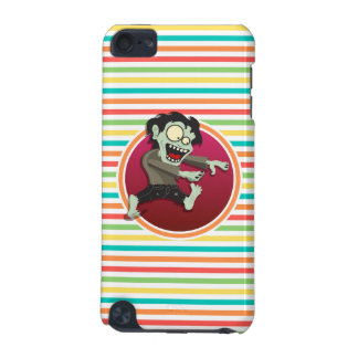 Zombie; Bright Rainbow Stripes iPod Touch 5G Cases