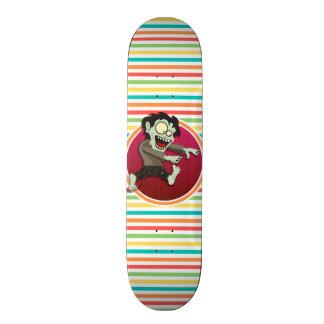 Zombie; Bright Rainbow Stripes Skateboards