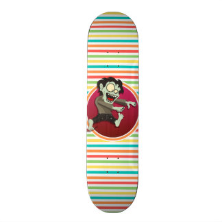 Zombie Bright Rainbow Stripes Skateboards