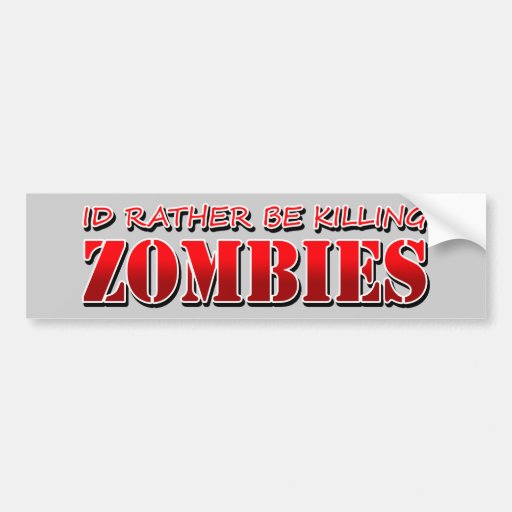 Zombie Bumper Stickers