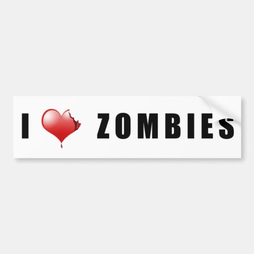 Zombie BumperSticker Car Bumper Sticker