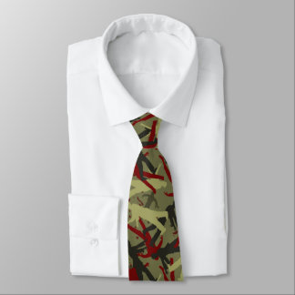 Zombie Camo Pattern Tie