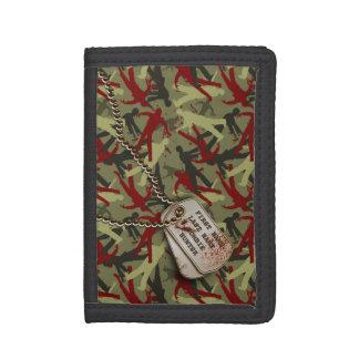Zombie Camo w/ Dog Tags Tri-fold Wallet