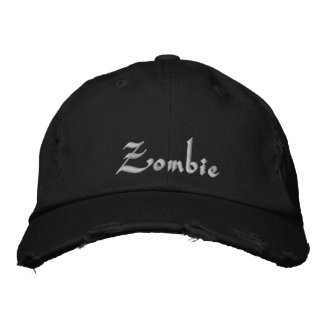 Zombie Cap / Hat Embroidered Baseball Cap