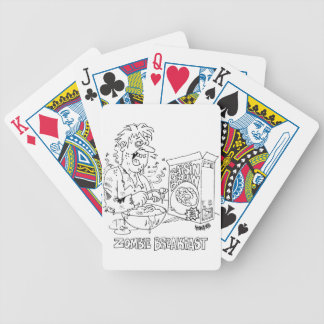 Zombie Cartoon Bicycle Brand Playing Cards