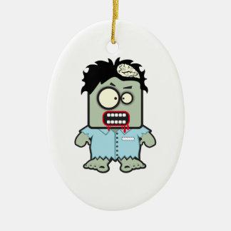 Zombie Cartoon Christmas Ornament