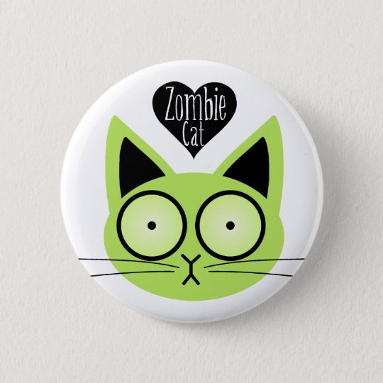 Zombie Cat 6 Cm Round Badge