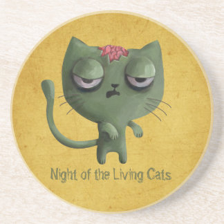 Zombie Cat Beverage Coaster