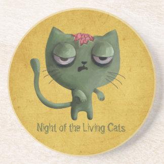 Zombie Cat Coasters