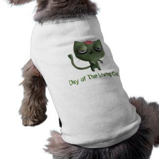 Zombie Cat Sleeveless Dog Shirt