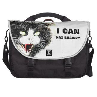 Zombie Cat I Can Haz Brainz Rickshaw Commuter Bag